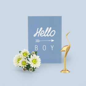 "Carte postale ""Hello Boy"" - Loeyou"